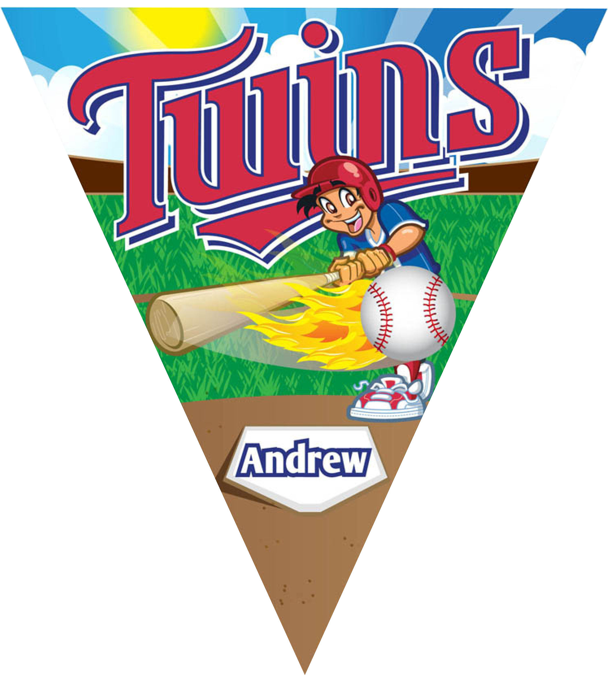 Twins Triangle Individual Team Pennant