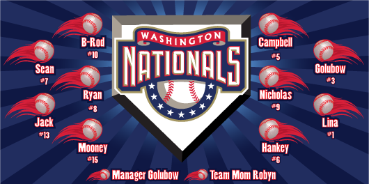 Washington Nationals Custom Vinyl Banner