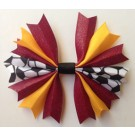 Red and Gold Ponytail Holder