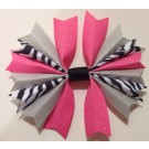 Hot Pink and Silver Ponytail Holder