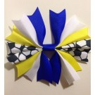 Yellow and Royal Ponytail Holder