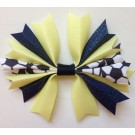 Yellow and Navy Blue Ponytail Holder
