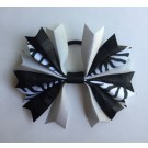 Black and Silver Ponytail Holder