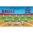 Angels Custom Vinyl Banner - Small Logo