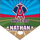 Angels Home Plate Individual Team Pennant