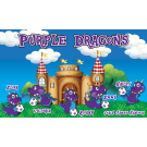 Purple Dragons 2 Custom Vinyl Banner
