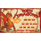 Red Dragons 1 Custom Vinyl Banner