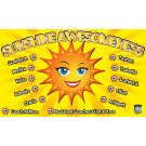 Sunshine Awesomeness Custom Vinyl Banner
