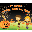 1st Grade Pumpkin Bean Bag Toss Custom Vinyl Banner