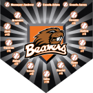 Beavers Custom Home Plate Banner