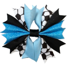 Black & Columbia Blue Ponytail Holder