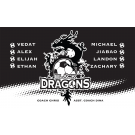 Black Dragons Custom Vinyl Banner