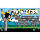 Black Birds Custom Vinyl Banner