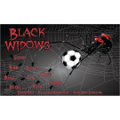 Black Widows Custom Vinyl Banner