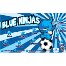 Blue Ninjas (Alternate) Custom Vinyl Banner