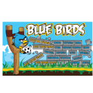 Blue Birds Custom Vinyl Banner