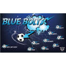 Blue Bolts Custom Vinyl Banner