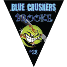 Blue Crushers Triangle Individual Team Pennant
