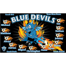 Blue Devils (Alternate) Custom Vinyl Banner