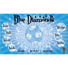 Blue Diamonds Custom Vinyl Banner