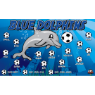 Blue Dolphins (Alternate) Custom Vinyl Banner