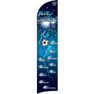 Blue Lightning (Alternate) Custom Double-Sided Team Wind Flag