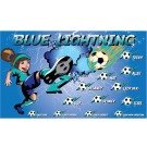 Blue Lightning 5 Custom Vinyl Banner