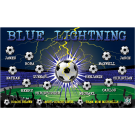 Blue Lightning 3 Custom Vinyl Banner