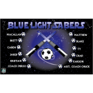 Blue Light Sabers Custom Vinyl Banner