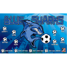 Blue Sharks Custom Vinyl Banner