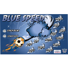 Blue Speed Custom Vinyl Banner