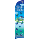 Bluetiful Butterflies Custom Double-Sided Team Wind Flag