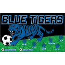 Blue Tigers Custom Vinyl Banner