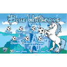 Blue Unicorns Custom Vinyl Banner