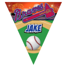 Braves Triangle Individual Team Pennant