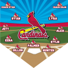 Cardinals Custom Home Plate Banner