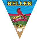 Cardinals Triangle Individual Team Pennant
