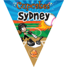 Cupcakes Triangle Individual Team Pennant
