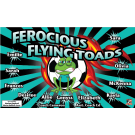 Ferocious Flying Toads Custom Vinyl Banner
