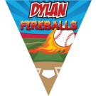 Fireballs (Alternate) Triangle Individual Team Pennant