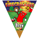 Firecrackers Triangle Individual Team Pennant
