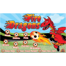 Fire Dragons (Alternate) Custom Vinyl Banner
