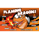 Flaming Dragons Custom Vinyl Banner