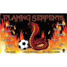 Flaming Serpents Custom Vinyl Banner