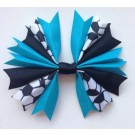Turquoise and Black Ponytail Holder