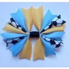 Gold and Columbia Blue Ponytail Holder