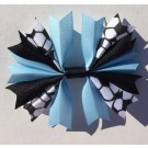 Columbia Blue and Black Ponytail Holder