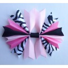Baby Pink Zebra and Bubblegum Ponytail Holder