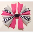 Bubblegum Silver and Zebra Ponytail Holder