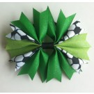Emerald and Lime Green Ponytail Holder